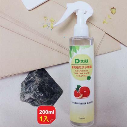 【大林】葡萄柚乾洗手噴霧200ML 1入